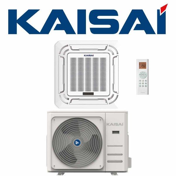 KAISAI KOMPAKT Klimaanlage SET Deckenkassette 3,5 kW für 1 Raum bis 50qm