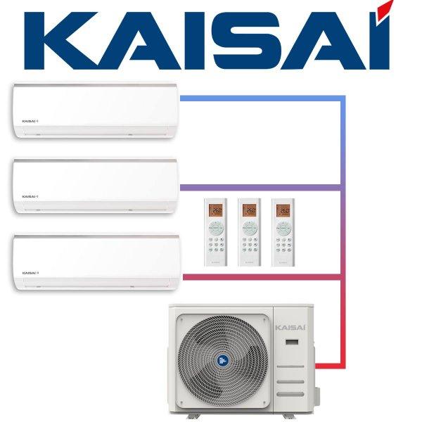 SET KAISAI Multisplit-Außengerät 10,6 kW mit 3 FLY Wandgeräten 3,5 kW