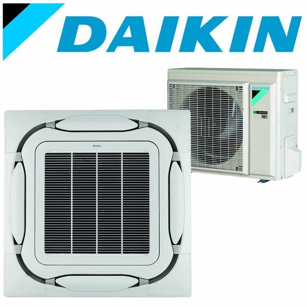 SET DAIKIN Roundflow FCAG 3,5 kW Deckenkassette weiß/grau inkl. Außeneinheit