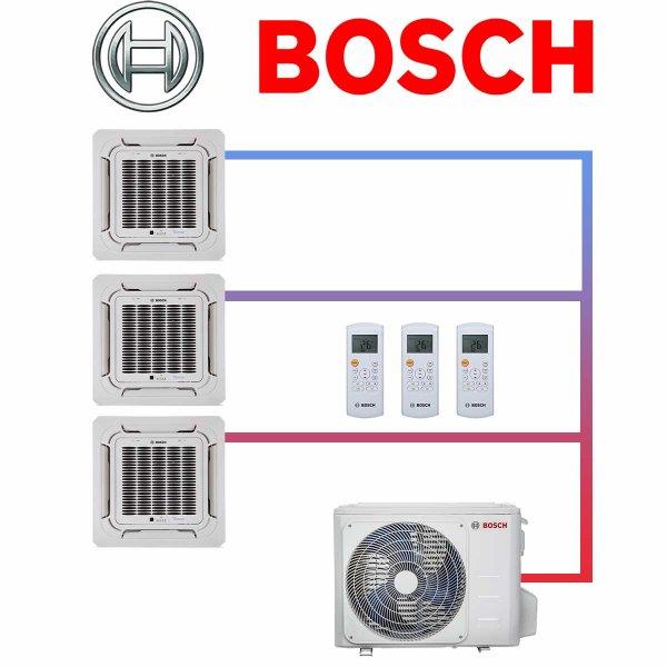 BOSCH Set Climate 5000 10,6 kW mit 3 Deckenkassetten 3,5 kW für 1-3 Räume bis 120qm