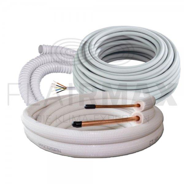 Leitungsset Isolierte Kältemittelleitung, 6/12mm, Kabel und Kondensatschlauch 5kW