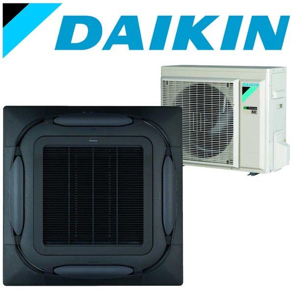 SET DAIKIN Roundflow FCAG 3,5 kW Deckenkassette schwarz inkl. Außeneinheit